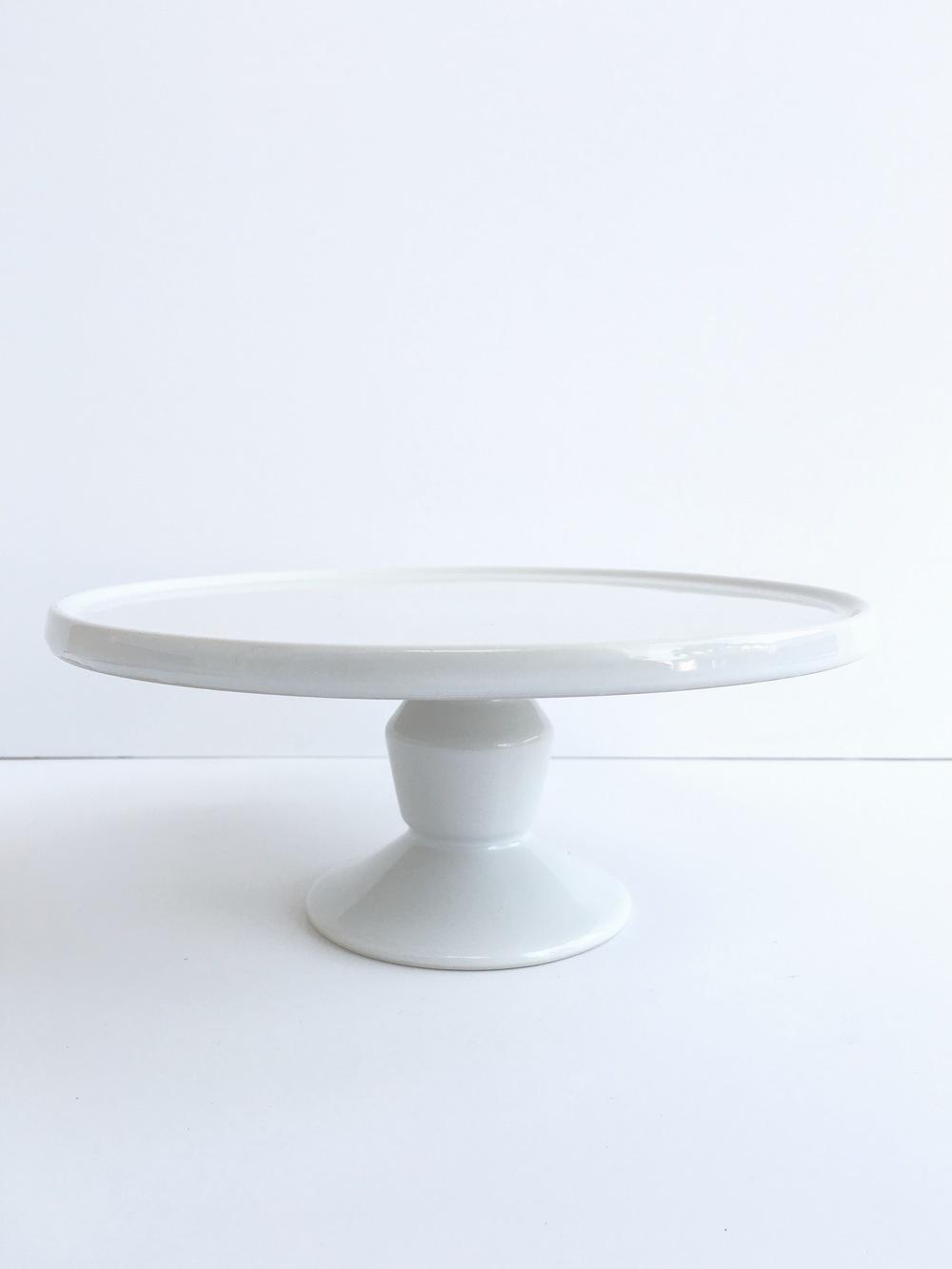 white minimal cake stand