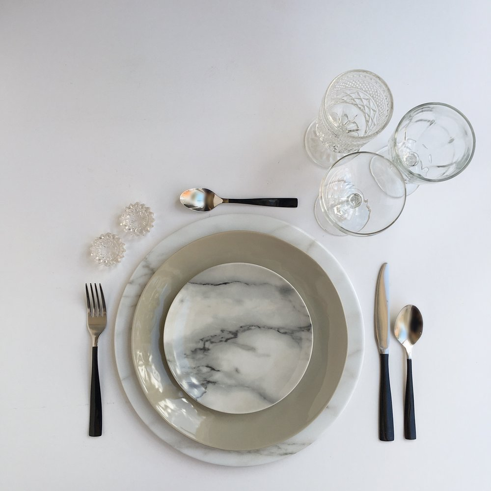 THE MIX DISH | MARBLE | BLACK | WHITE