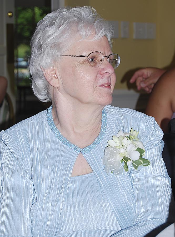 Diane at her son Chris' wedding reception