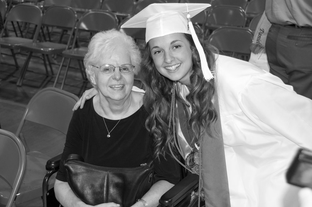 Diane and her granddaughter, Madison, at Madison's high school graduation