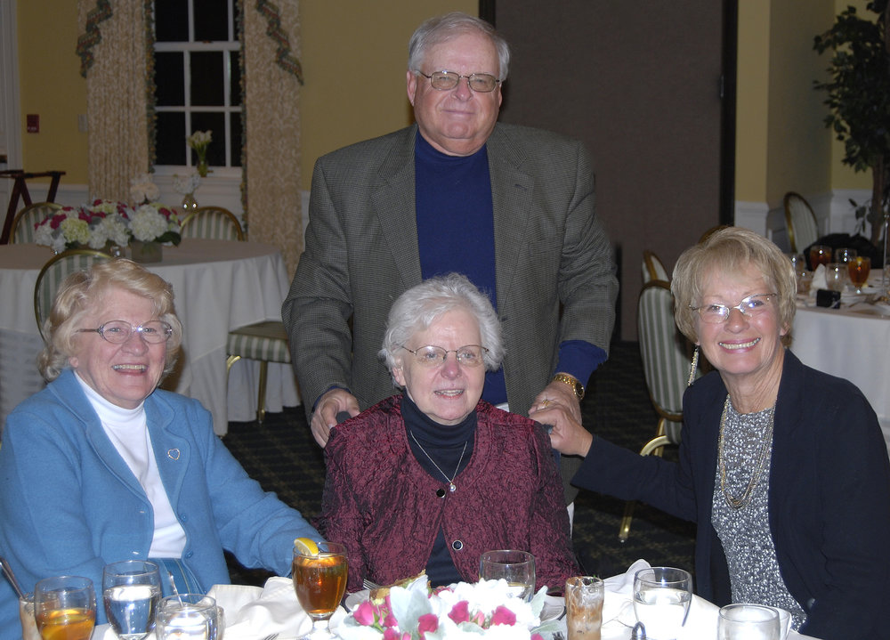 Diane with her brother, Galen, sister-in-law, Kathleen, and cousin Barbara at Diane's 70th birthday party