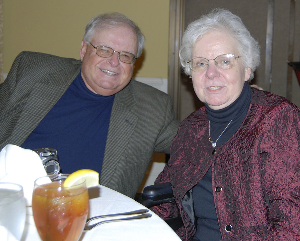 Diane and her brother, Galen, at Diane's 70th birthday party