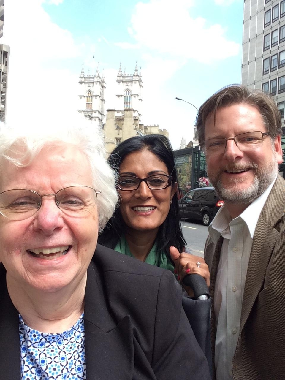 Diane, her son Al and his wife Sonia in London