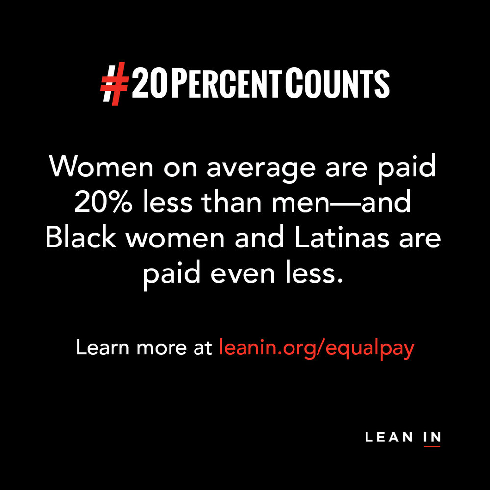 April 10, 2018 LeanIn Equal PayDay - KWE Publishing is supporting LeanIn RVA with Equal Pay Day! On April 10th, we are offering 20% off our services to people who sign up to work with us.