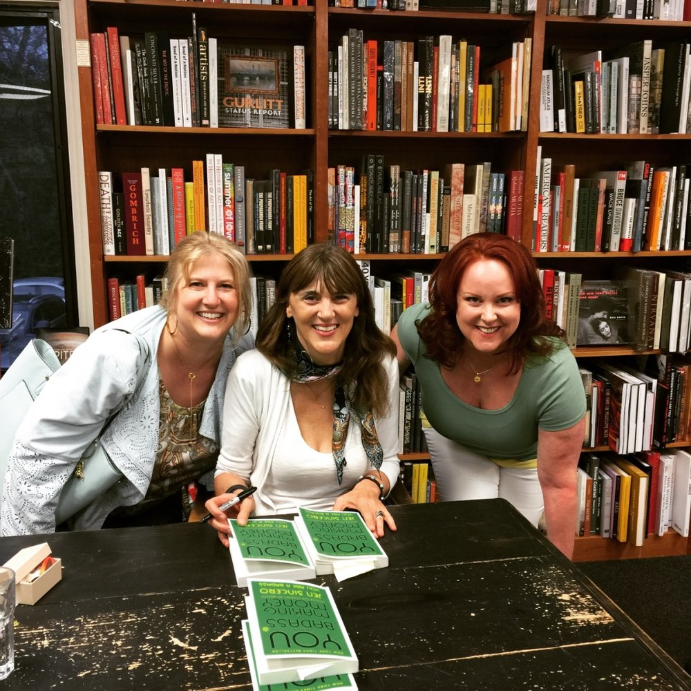 Kim, Jen Sincero and Aideen Finnola at Politics & Prose Bookstore, Washington D.C., April 28, 2018