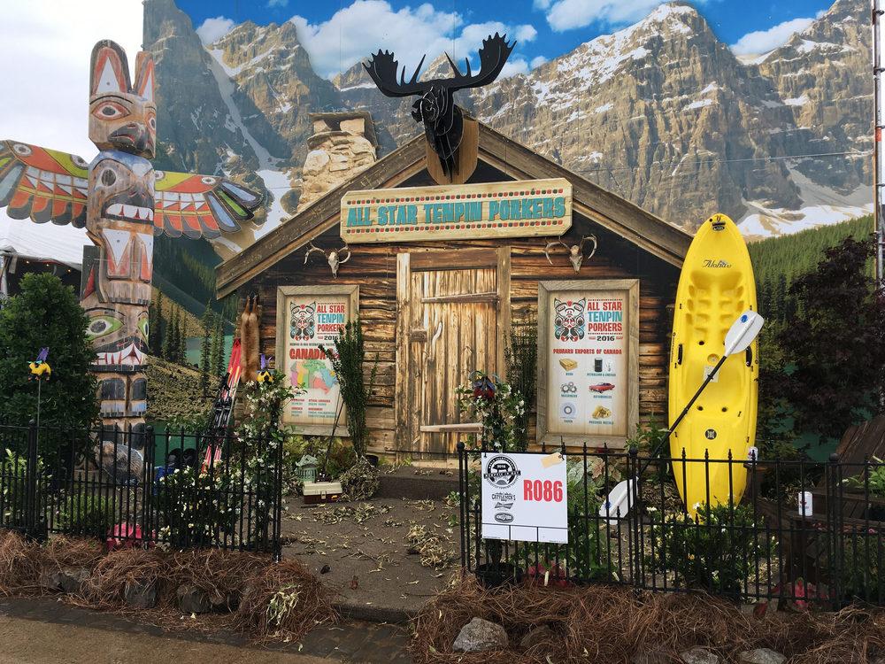 All star ten pin porker's winning canada-themed booth