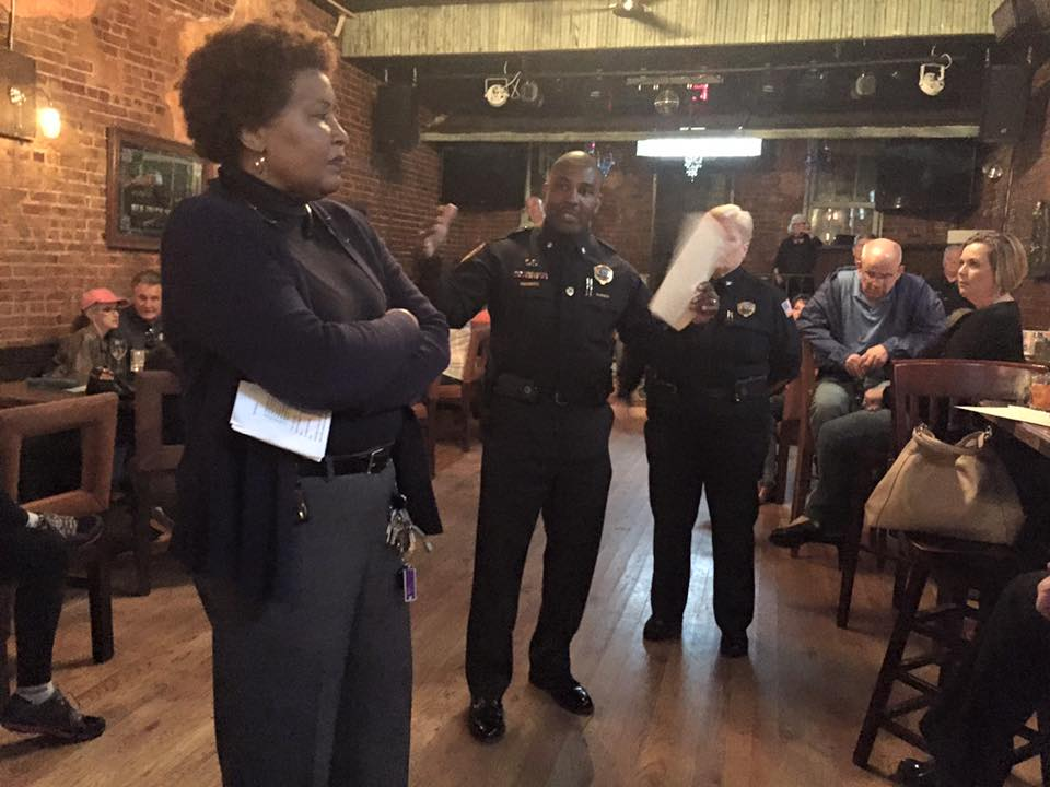 MPD speaks to residents at Five Spot during April safety meeting