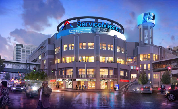 Artist rendering of One ServiceMaster Center