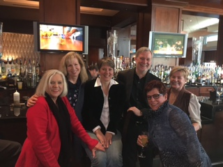 Clockwise -- Joan Robinson, Anna Grehan, Barbara Standing, Ken Hudson, past DNA president, Terry Woodard and Marcy Siebert