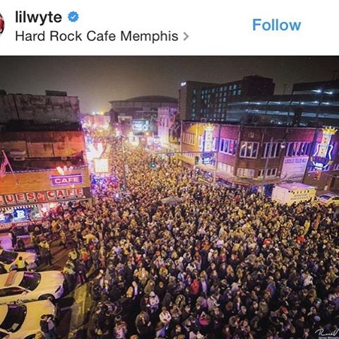 Awesome crowd on #BealeSt this New Years! 🌀🎉💥2017 we are excited to see what you have in store for the city of Memphis