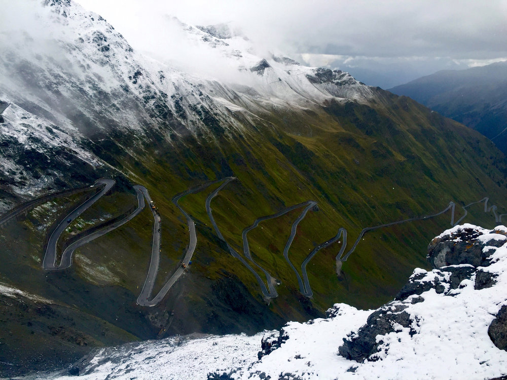 A climb up Stelvio earns you a snowball fight.