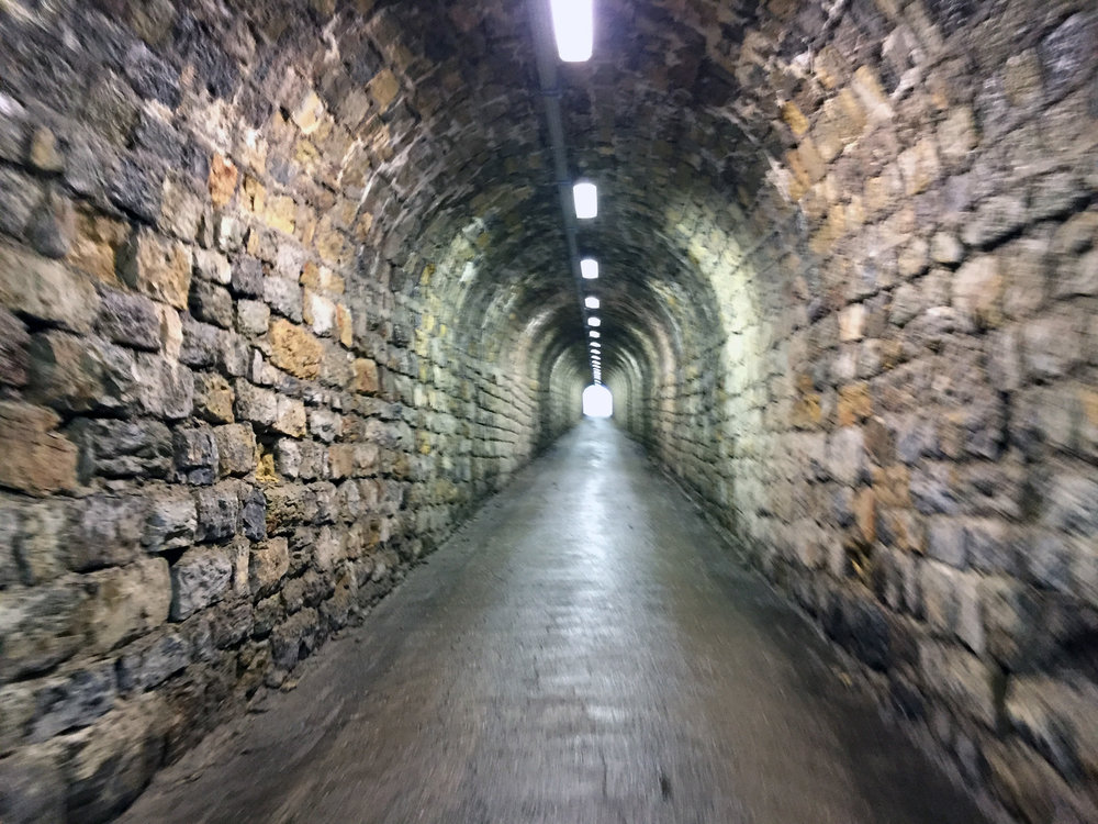 The torture tunnels of Monte Zoncolan.