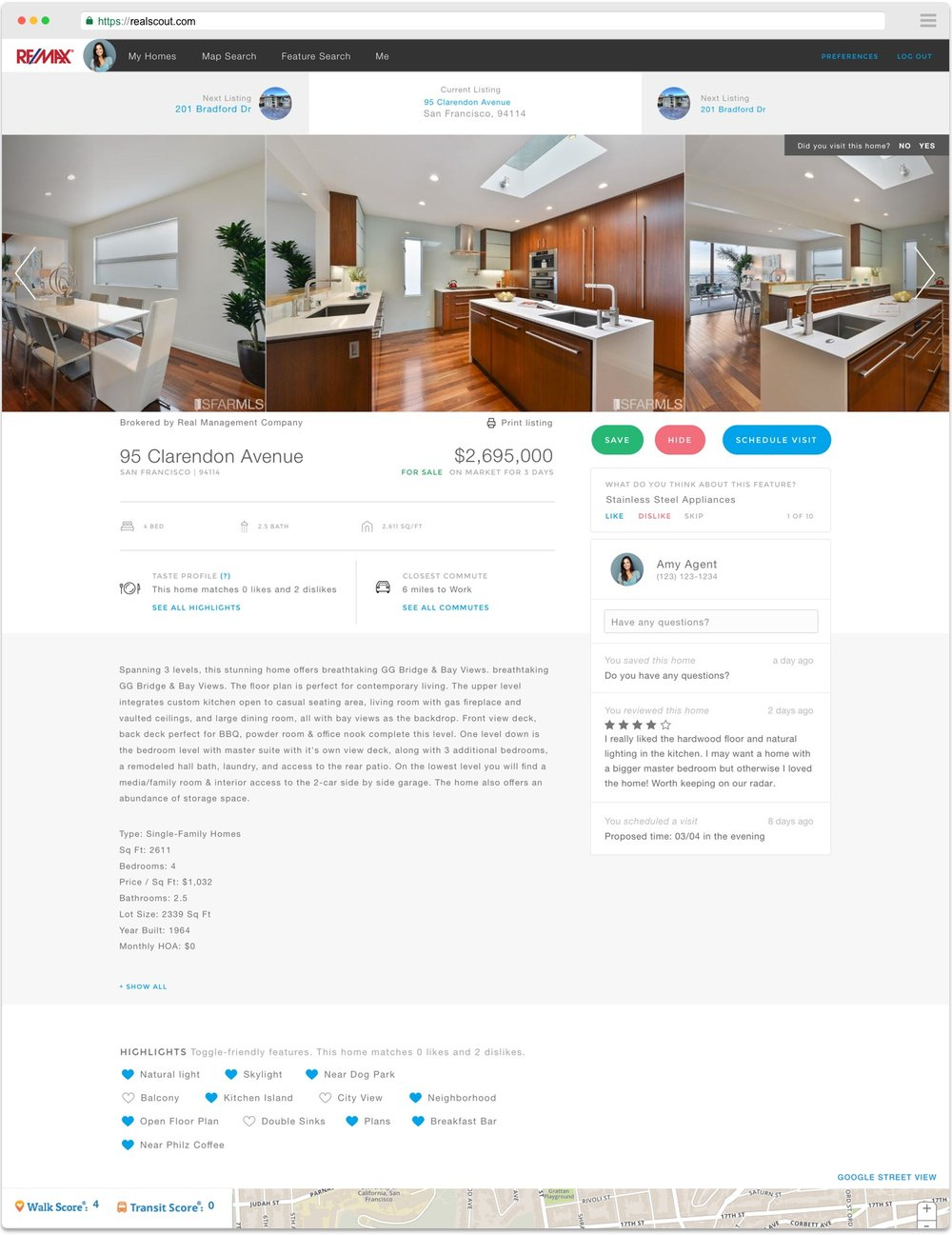 IT'S IN THE DETAILS - RealScout shows you compatible homes and offers intuitive browsing and details that most sites don't. Search by rooms, plan your commute, and ask your agent questions.