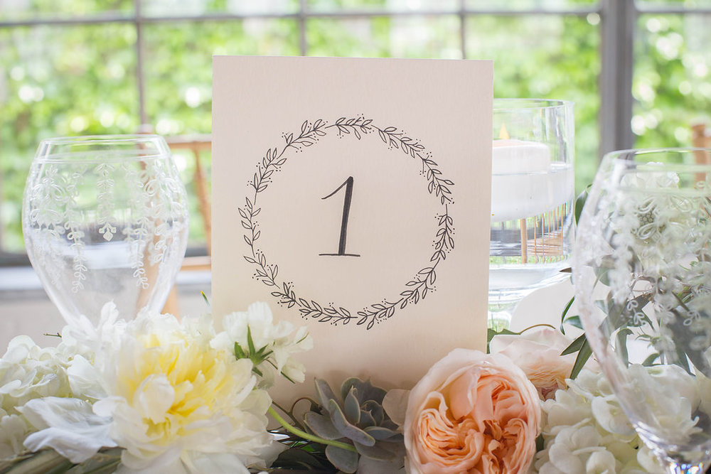 table-number-calligraphy