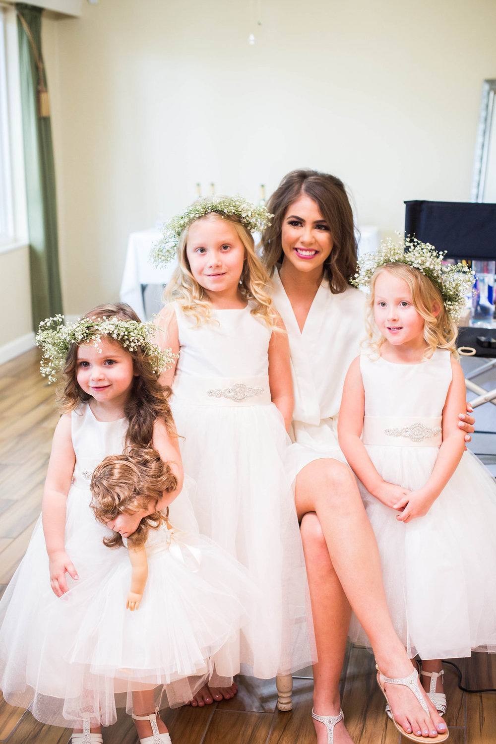bride-and-smiling-flower-girls