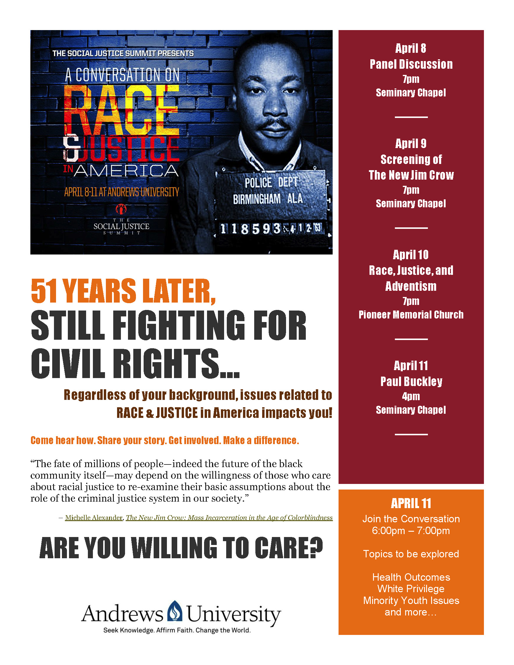 Race & Justice Flyer