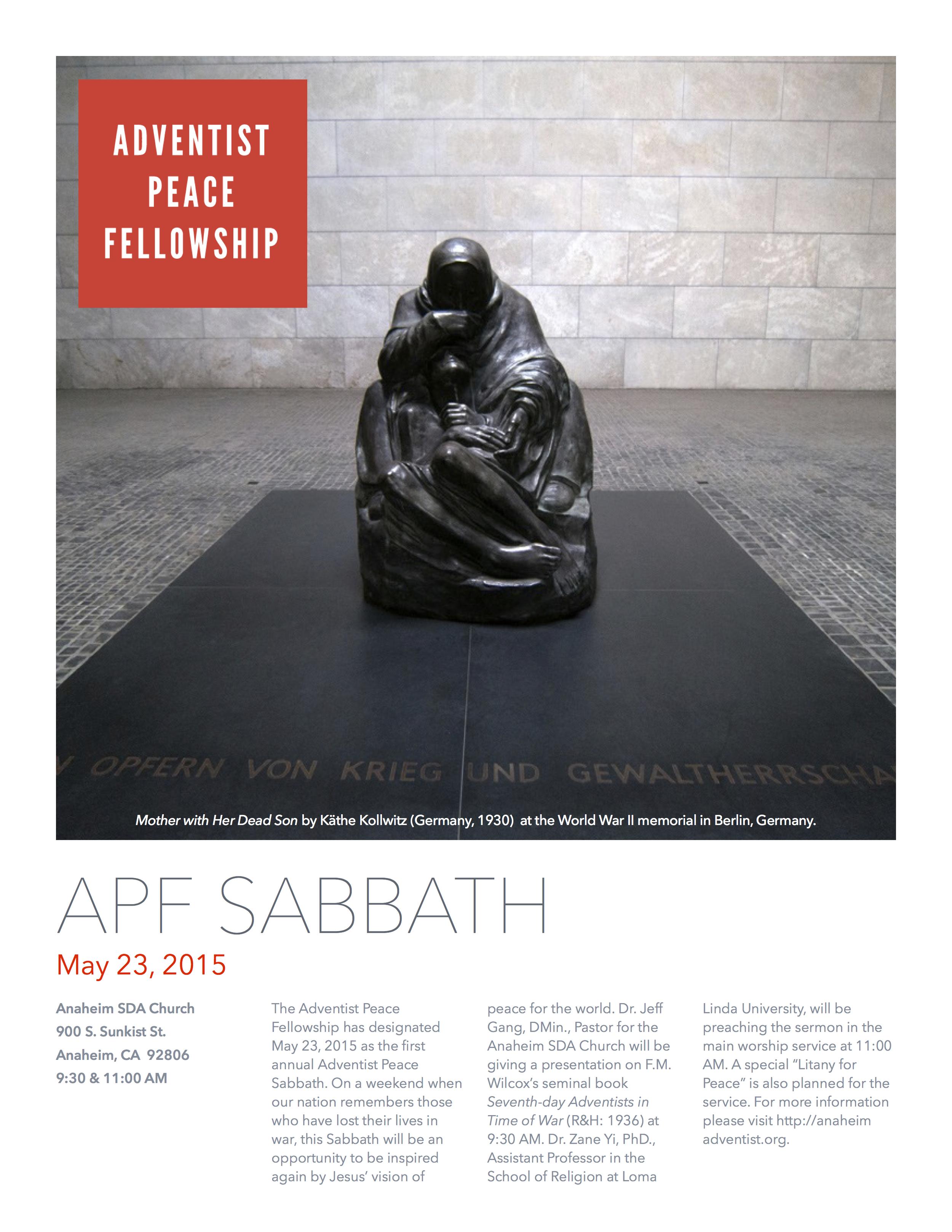 Blog — Adventist Peace Fellowship