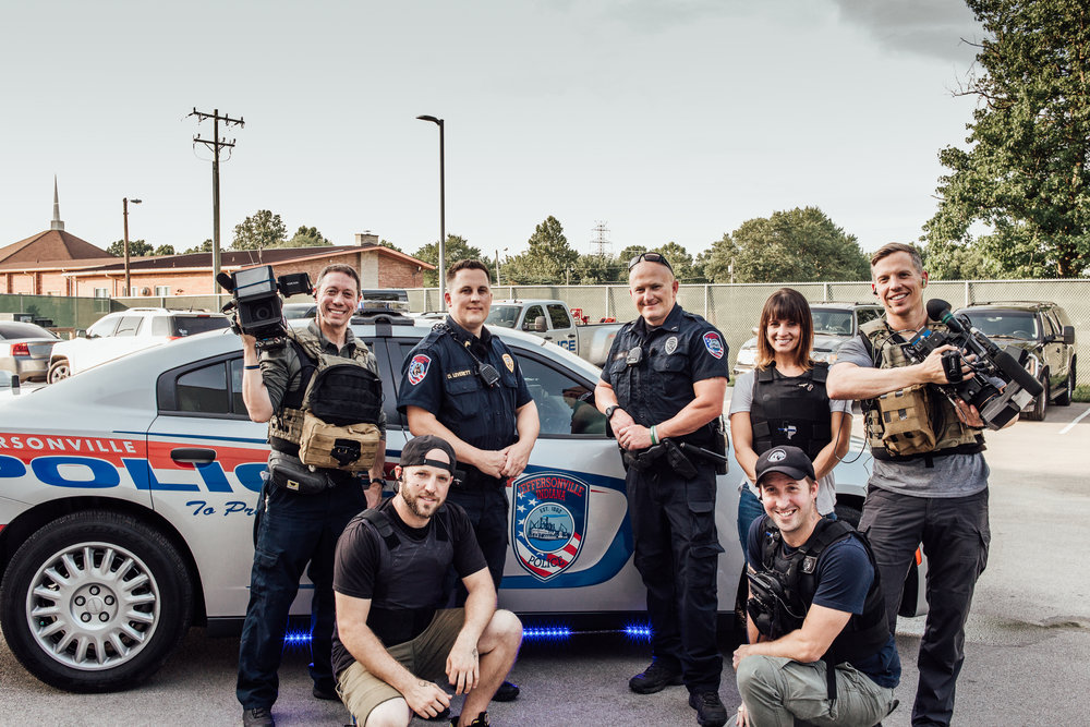 Jeffersonville Police and Live PD crew