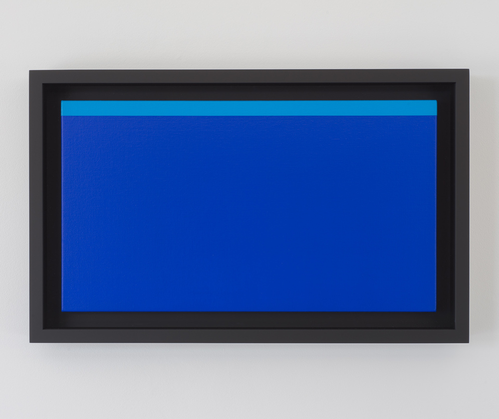 Untitled (Cobalt Blue - Cyan) from the series 16:9, 2013