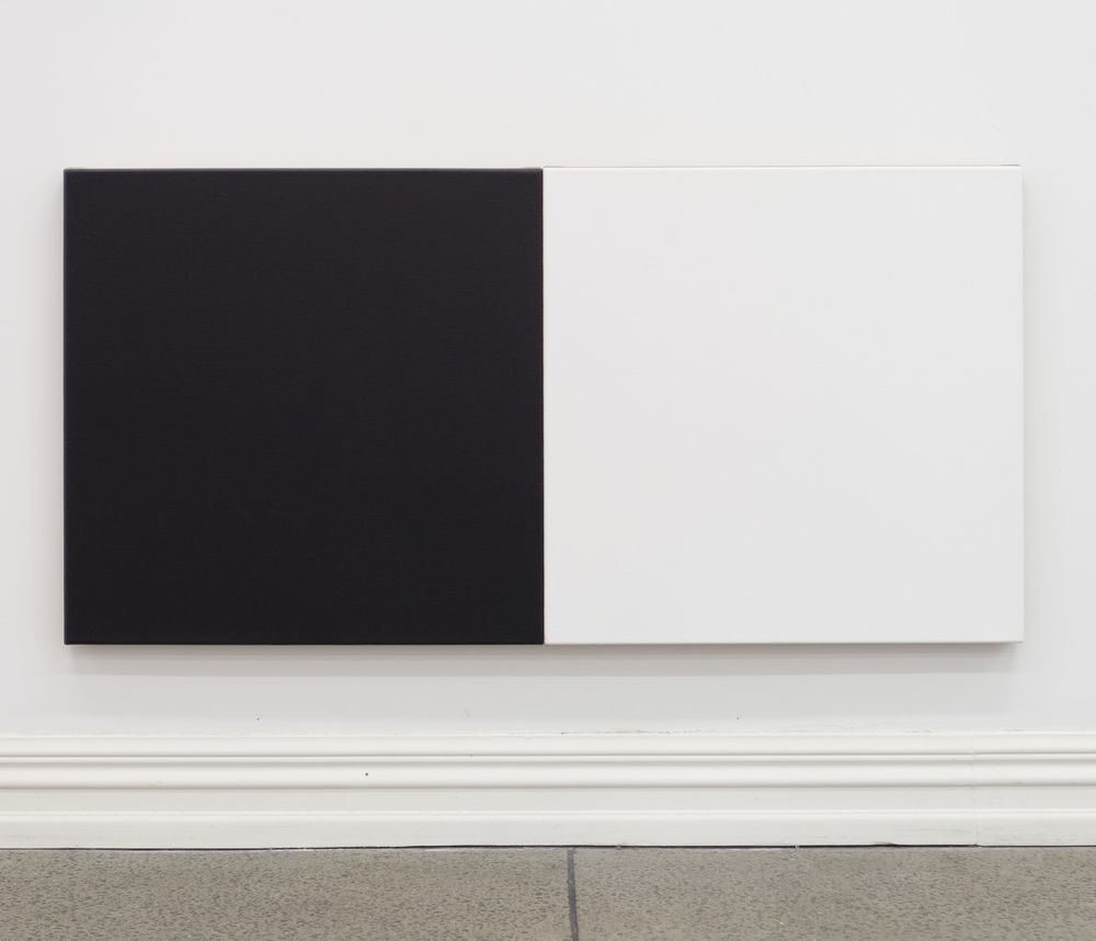 Untitled diptych (Black & White), 2010