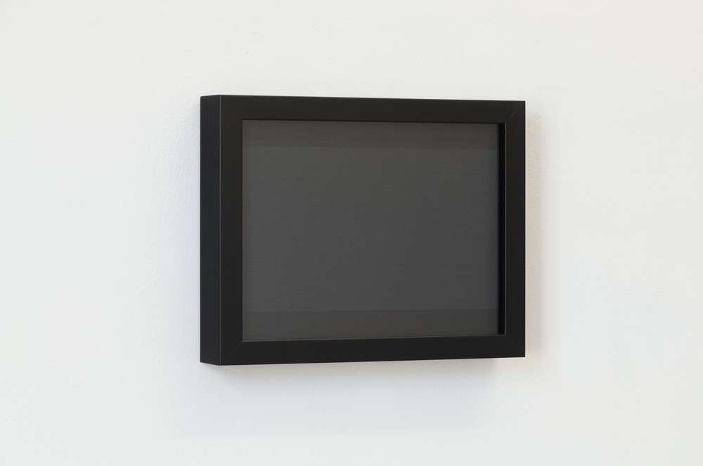 Achromatic Grey (16:9) from the series 4:3, 2011 Acrylic on linen board, frame, perspex, 277 x 353 x 57 mm