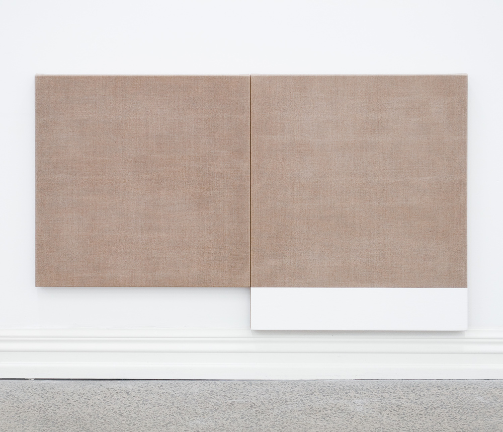 Untitled diptych (Reverse), 2010, Acrylic on linen, 710 x 1188 mm