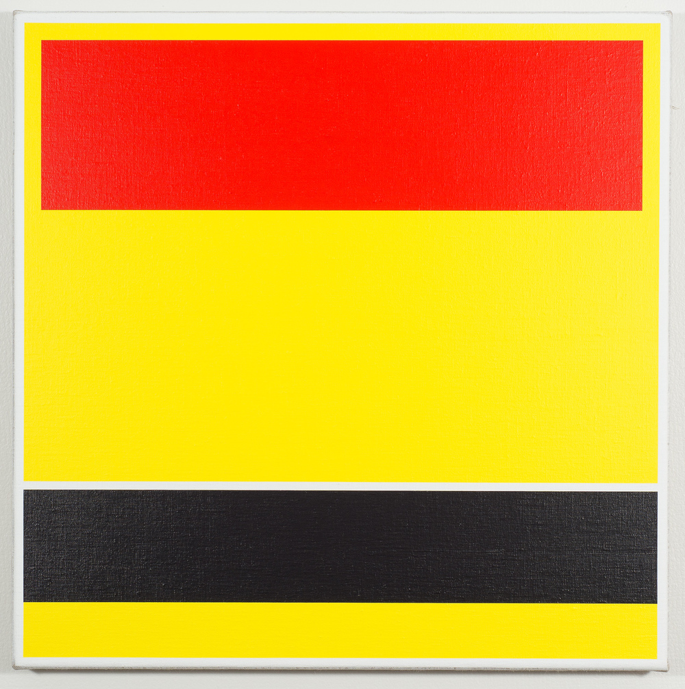 SOMA (Red/Yellow/Black), 2015 Acrylic on linen, cedar stretcher, 500 x 500 mm