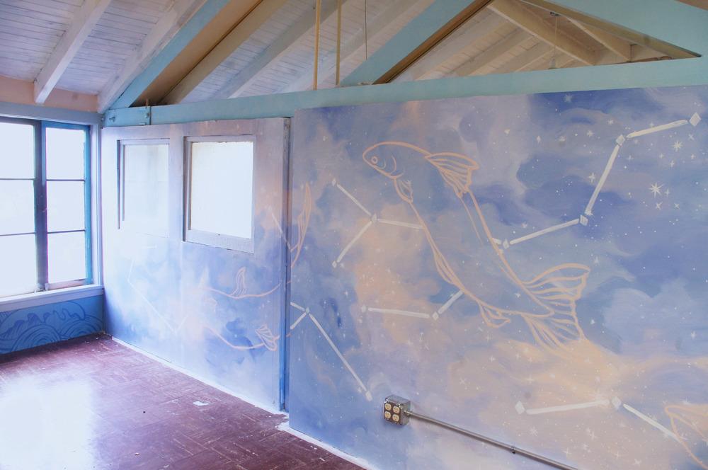 Den mural (the pisces pavilion)