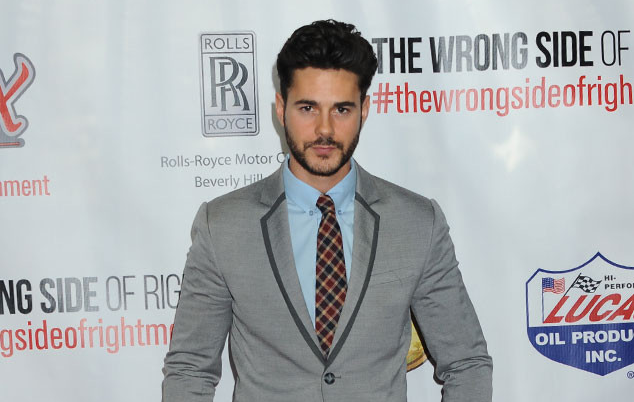 "MOVIE PREMIERES: RED CARPETS AND PARTIES!  JAYSON BLAIR  ""It doesn't take 50 shades of grey to make this hottie look handsome at the premiere of  The Dog Lover  in L.A.""  - Katy Winn/E-Online"
