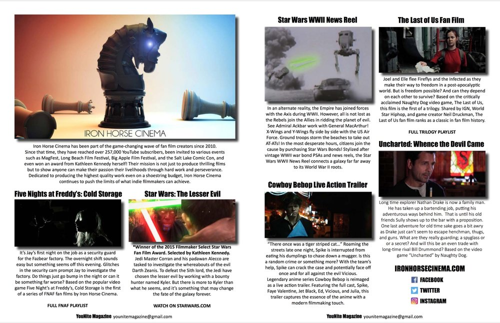YouNite Magazine - Write up in the premiere issue of YouNite Magazine.