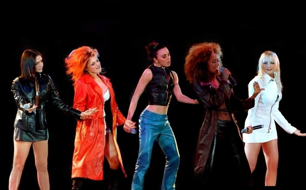 The Spice Girls perform at West MacLaren in 1997. (Credit: Wikimedia Commons/Melanie Laccohee)