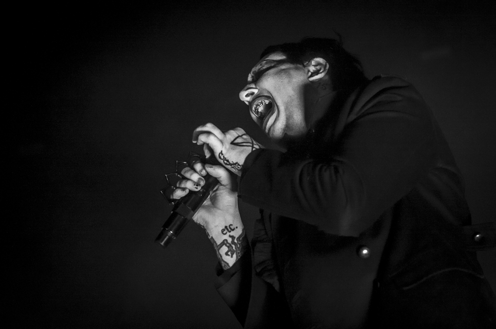Marilyn Manson  at Cellaris Amphitheatre shot by  Sarah Htun  on August 17, 2018