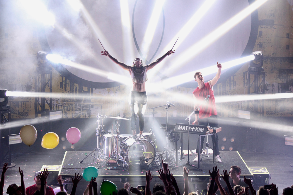 Matt and Kim  at the Buckhead Theatre shot by  Robyn Johnson  on September 13, 2018
