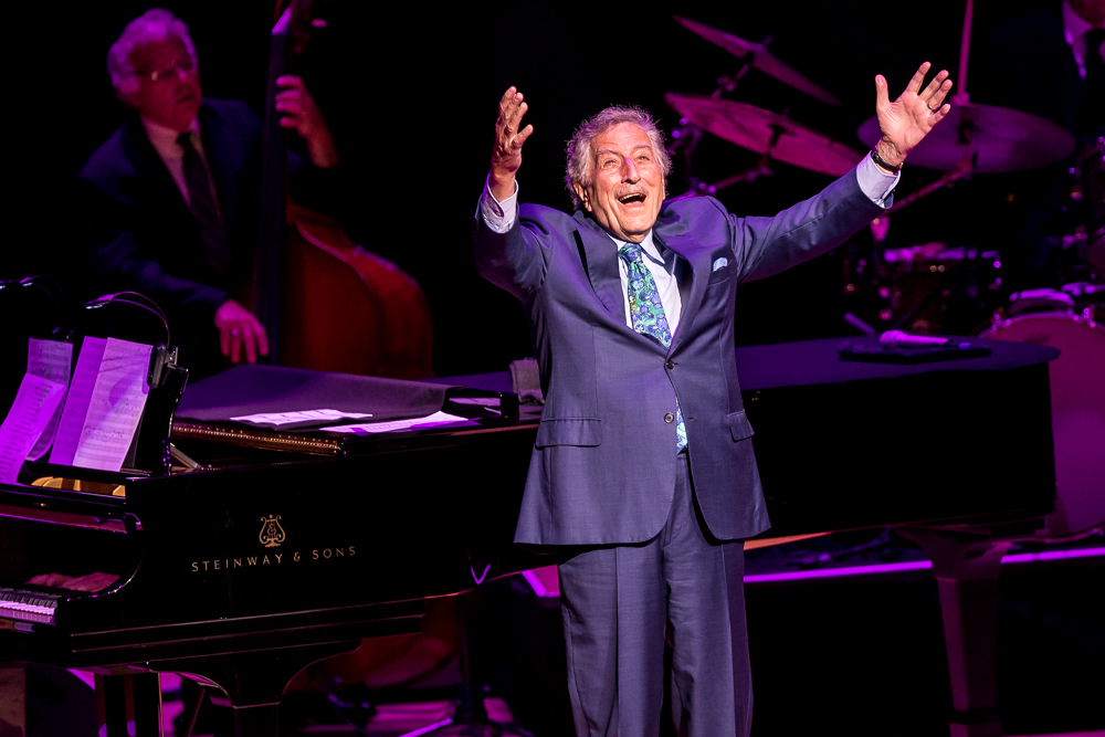 Tony Bennett  at the Atlanta Symphony Hall shot by  Sanjeev Singhal  on May 4, 2018