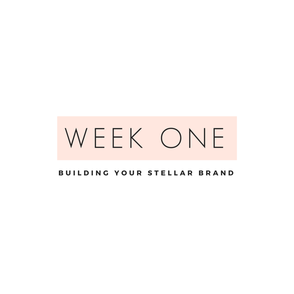 BUILDING your STELLAR BRAND Week one is all about developing your brand voice and target audience. getting crystal clear on your business goals and setting yourself up for long-term success.