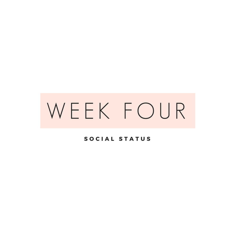 Social status Week four is all about building authentic relationships with your following and I'm sharing the steps to get there. From streamlining your social media through automation to how to grow your following through quality content.