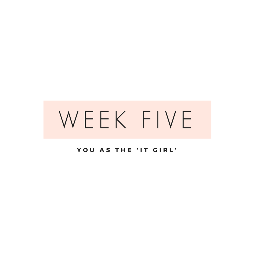 you as the 'it girl' Week five is all about branding you as the go-to in your industry. This is where the magic is.To get ahead in your industry, you need to establish your credibility. We'll dig into benchmarking through market research and how to start networking and how to team up for collaborations.