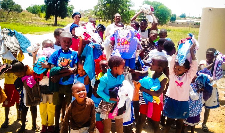 Partners 4 Africa delivering clothes