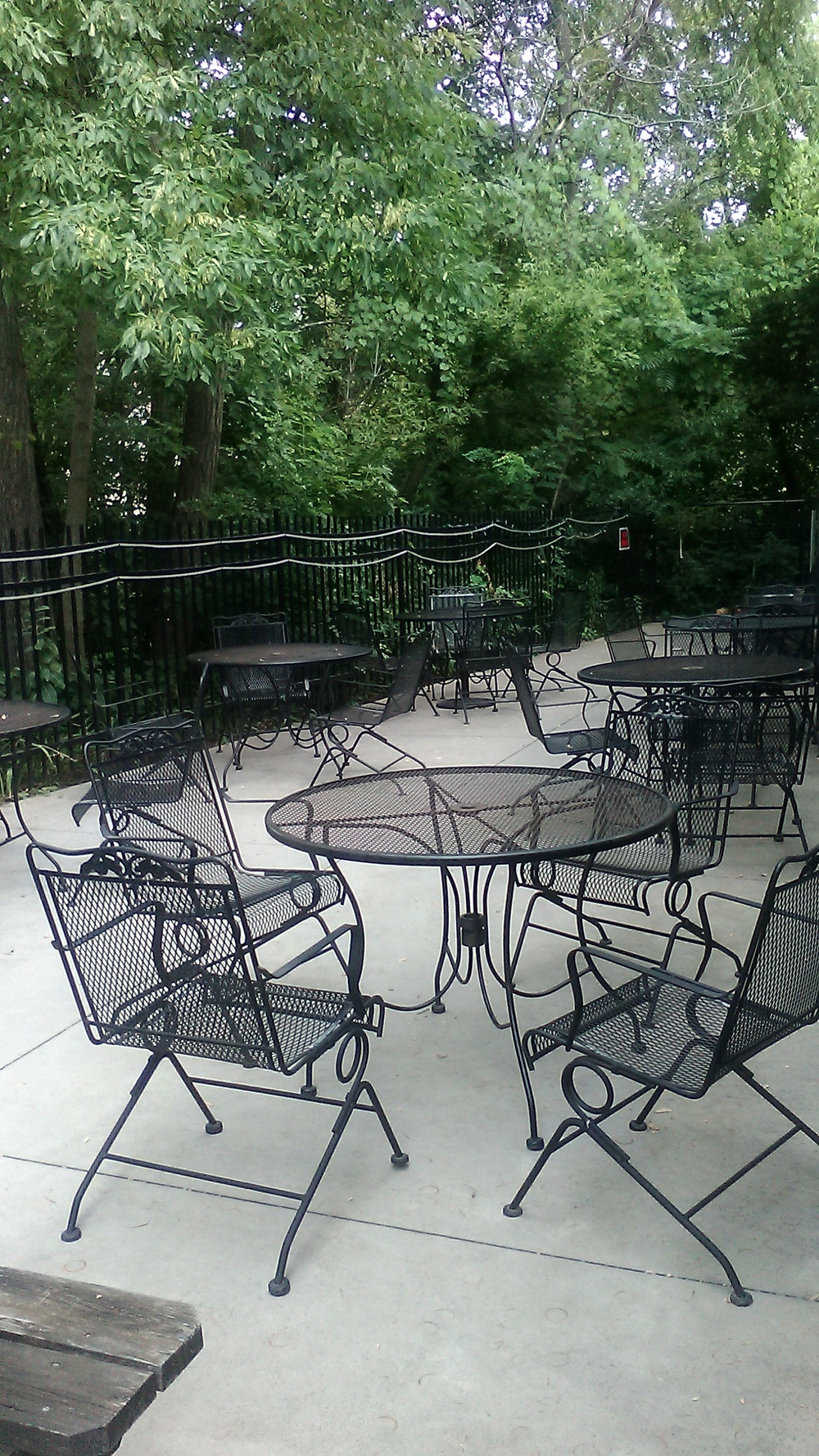 Our shaded creek-side patio seats around 30 and is secluded and perfect for enjoying an afternoon or evening of food & drinks with friends.
