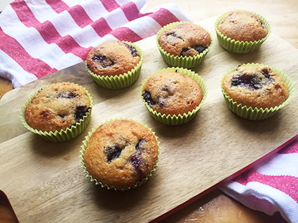 Cherry Honey Muffins