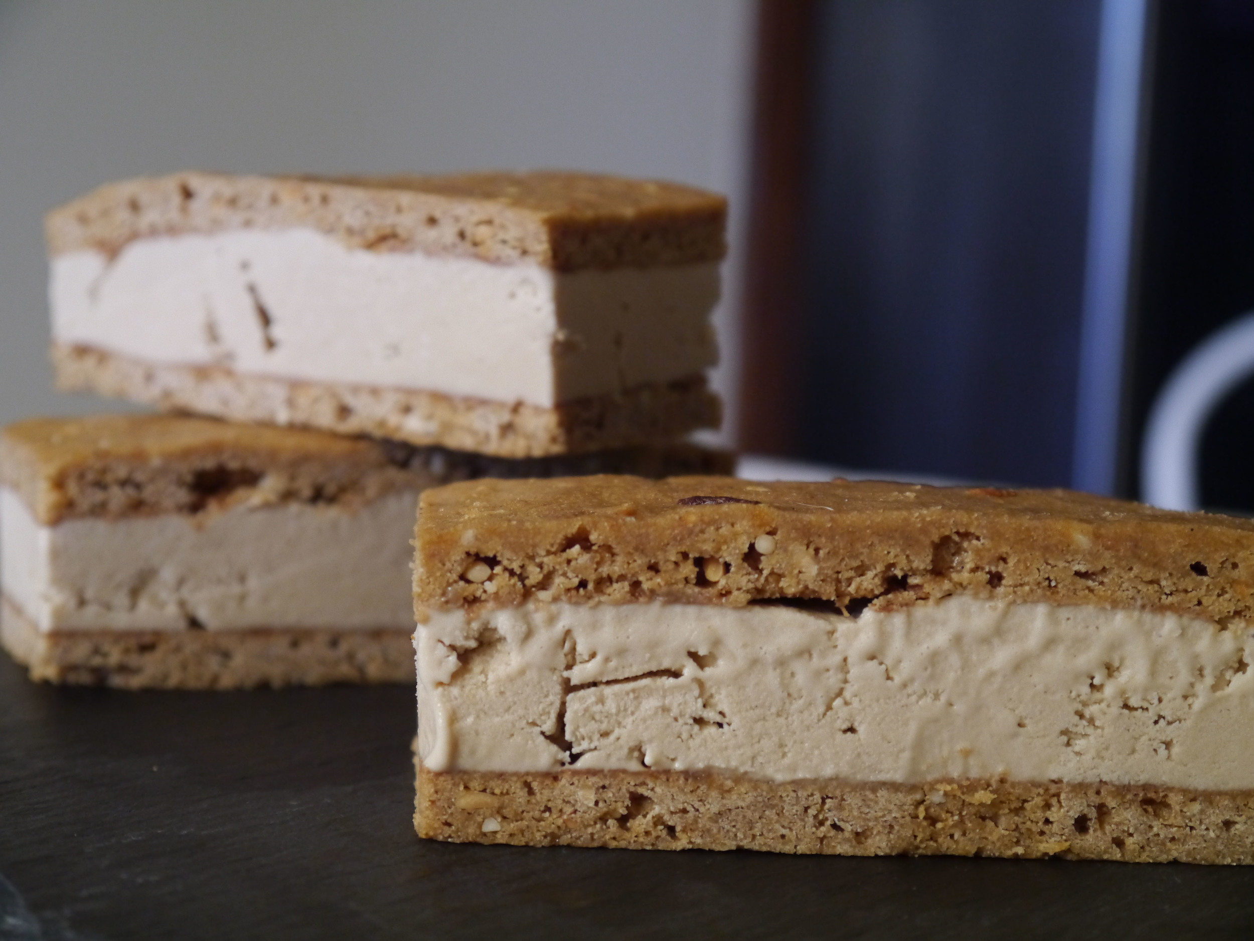 Peanut Butter & Roasted Banana Ice Cream Sandwiches 2