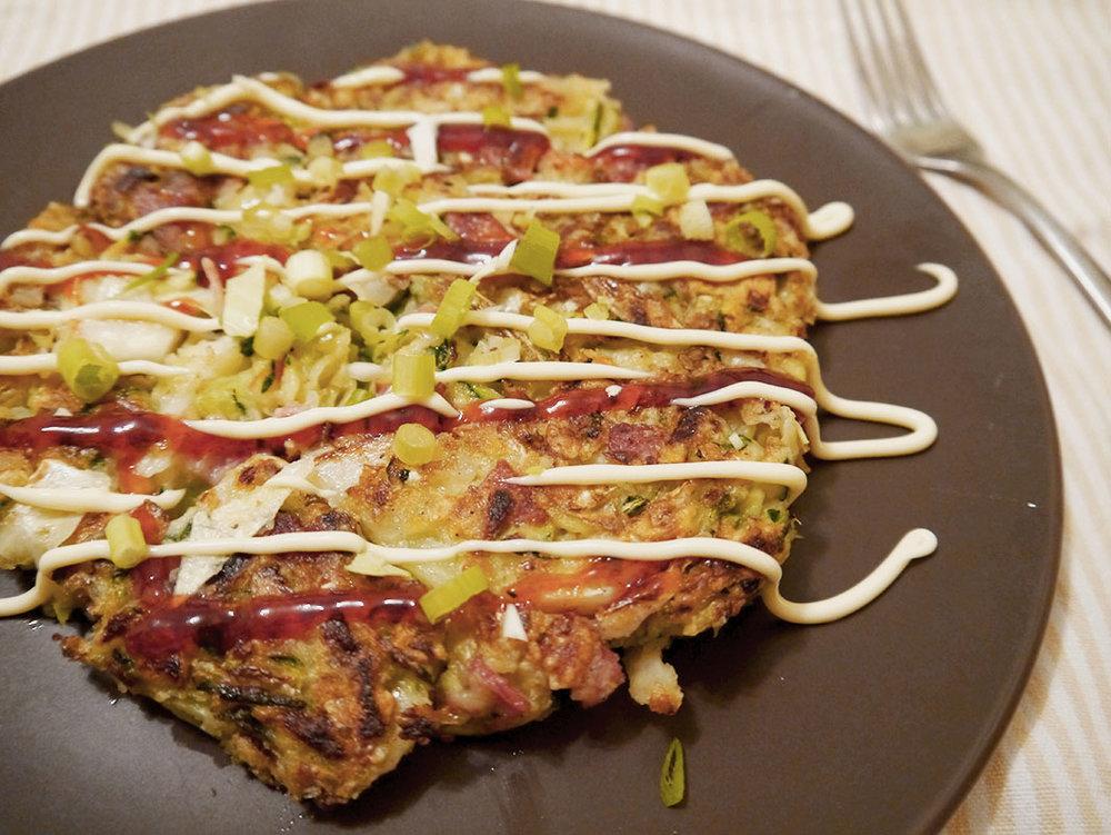 Okonomiyaki japanese pancake nourish me whole okonomiyaki japanese pancake ccuart Images