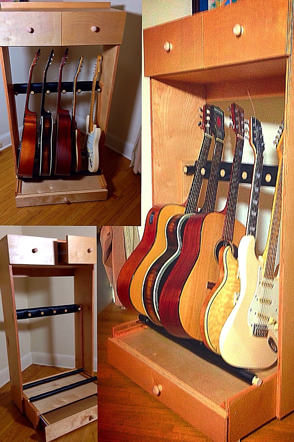 Custom guitar stand cabinet