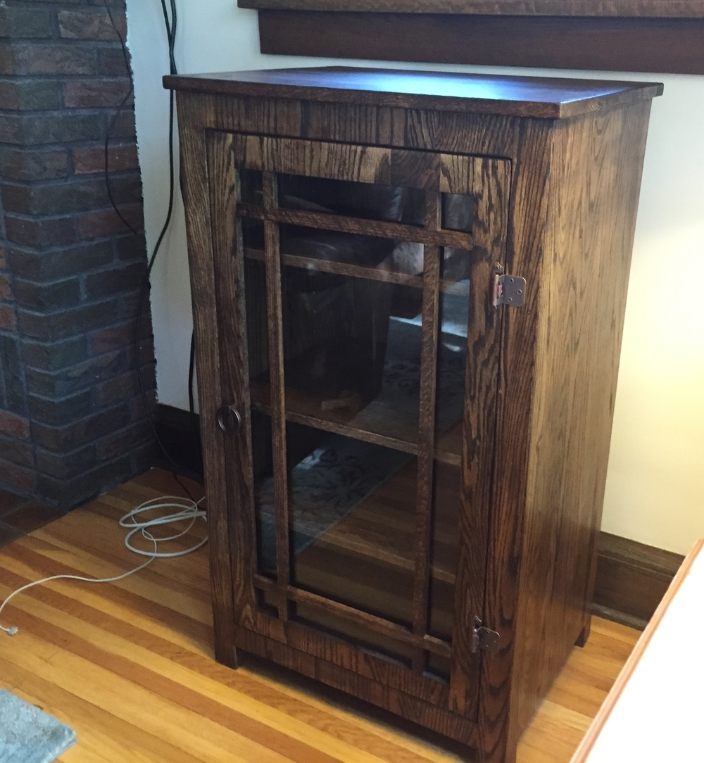 Oak Entertainment Center Cabinet