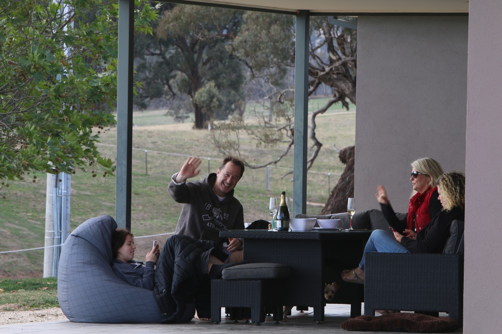 - Relax on the verandas.  One faces east to watch the sun as it rises over Mt Buller and Timbertop or sit on the veranda facing west and watch the beautiful and ever changing sunsets in the valley. You can also enjoy dining on the verandas.  Try breakfast on the east veranda or sunset on the west veranda.