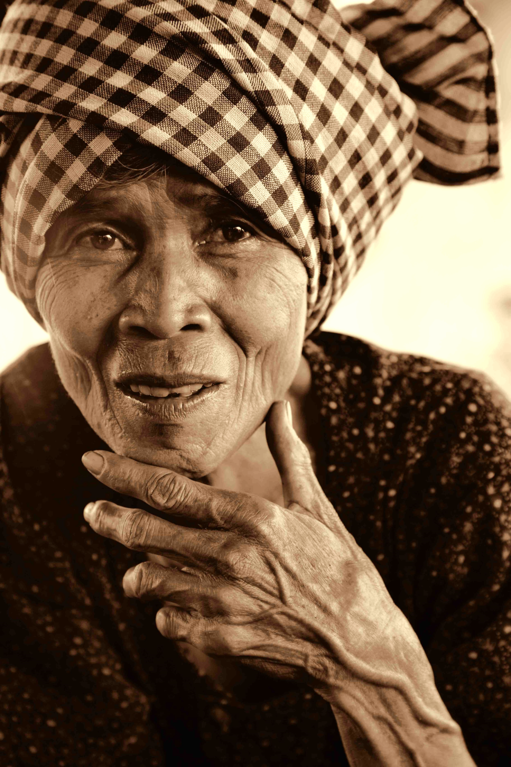 Elderly woman from Ratanakiri Province, Cambodia