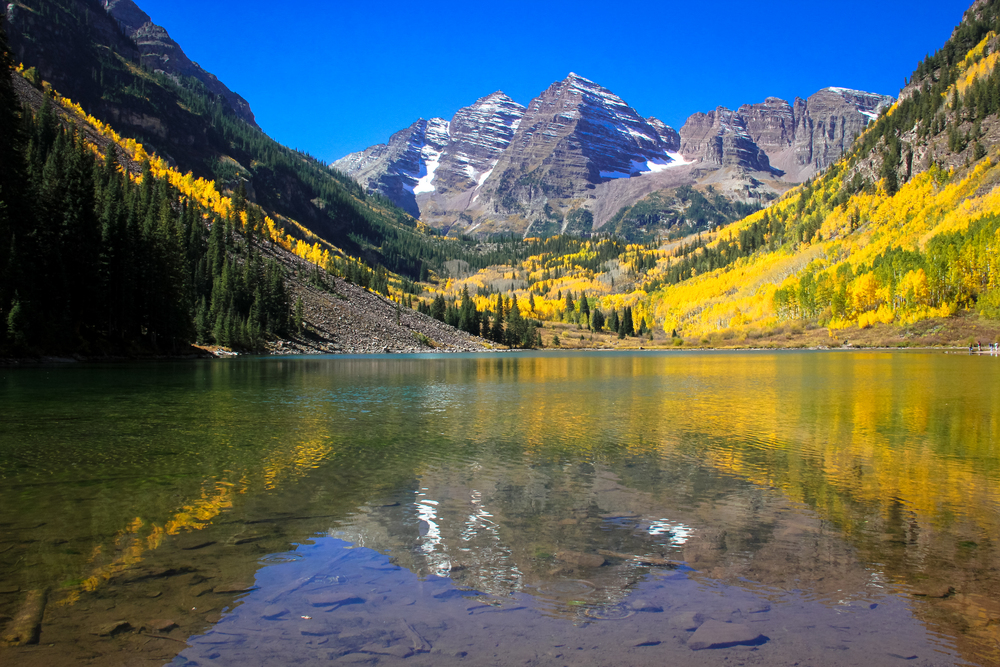 Maroon Bells Fall Foliage, Aspen, Colorado