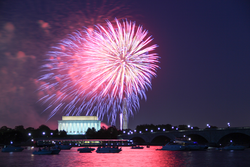 Fourth of July Fireworks in Washington DC