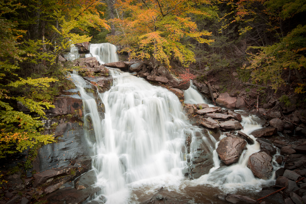 Bastion Falls in the Catskill Mountains of New York.