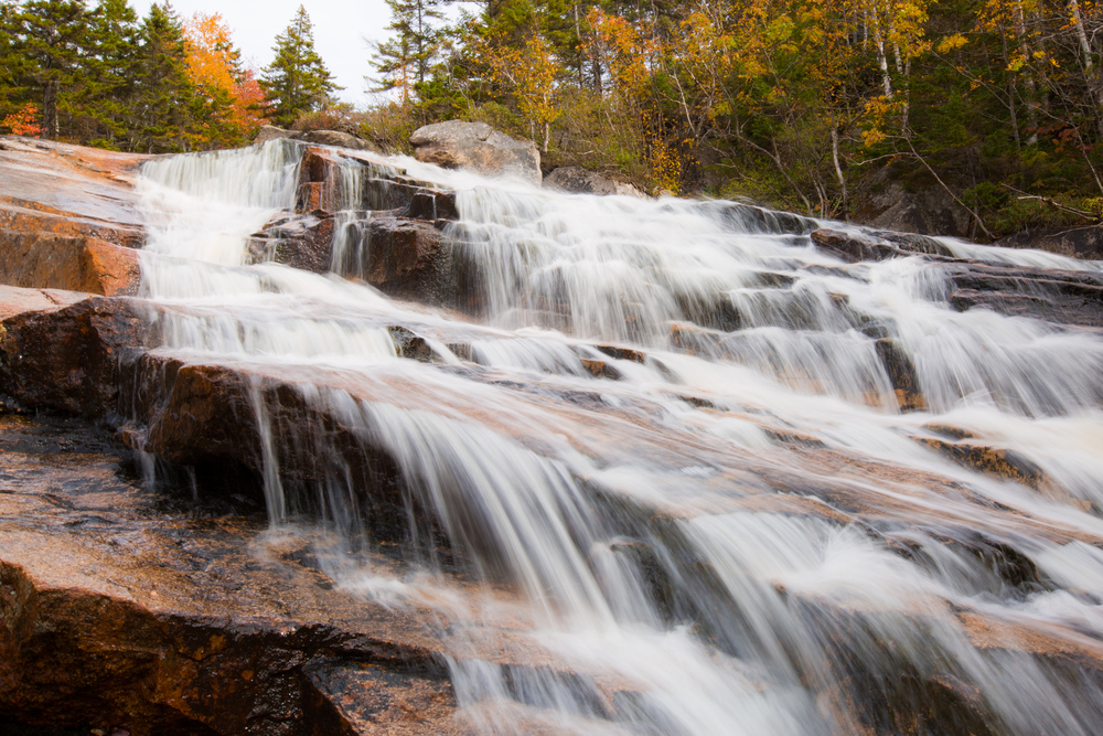 Thoreau Falls off the Appalachian Trail in the White Mountains of New Hampshire